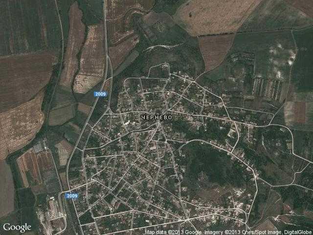 Сателитна карта на Чернево