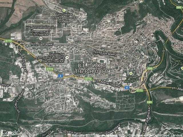 Сателитна карта на Велико Търново