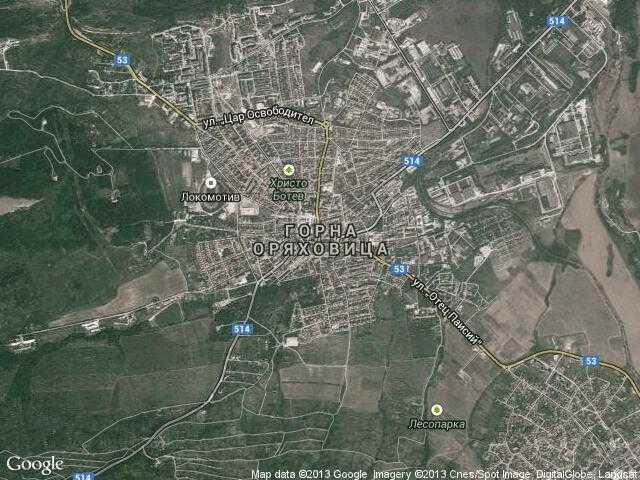 Сателитна карта на Горна Оряховица