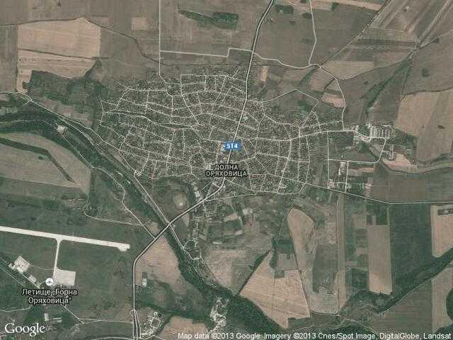 Сателитна карта на Долна Оряховица
