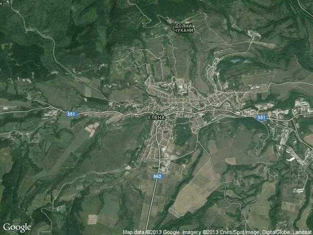 Сателитна карта на Елена