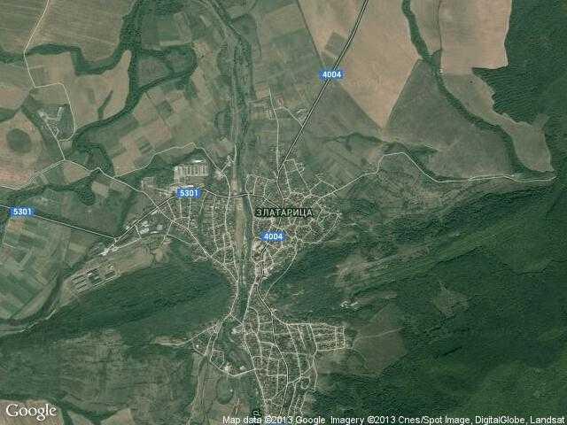 Сателитна карта на Златарица