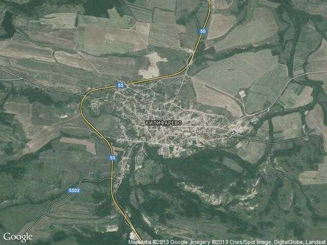 Сателитна карта на Килифарево