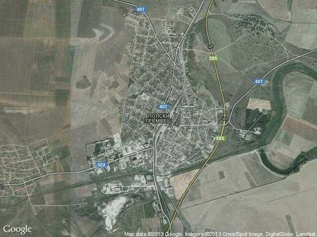 Сателитна карта на Полски Тръмбеш