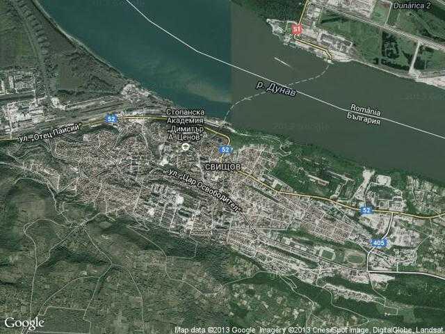Сателитна карта на Свищов