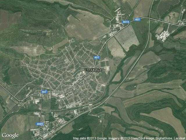 Сателитна карта на Стражица