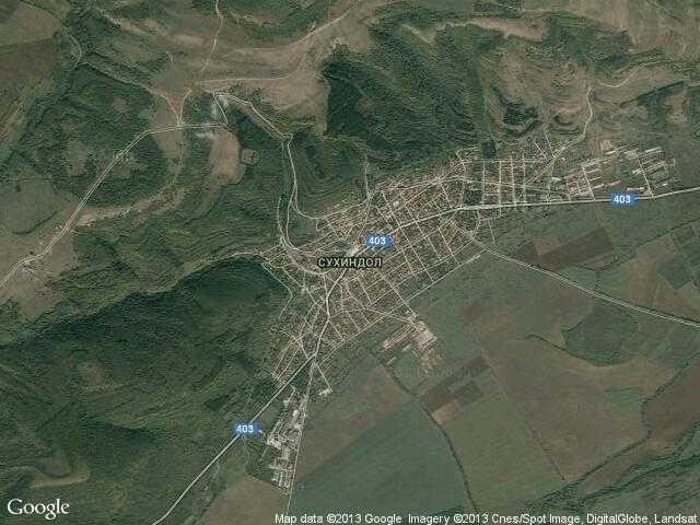 Сателитна карта на Сухиндол