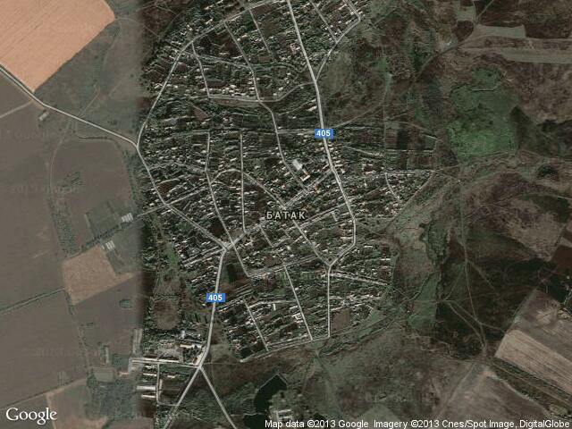 Сателитна карта на Батак