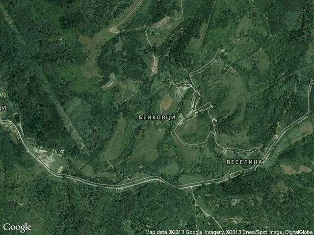Сателитна карта на Бейковци