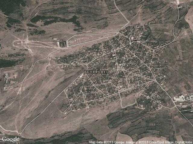 Сателитна карта на Беляковец