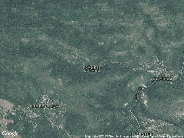 Сателитна карта на Бойчеви колиби