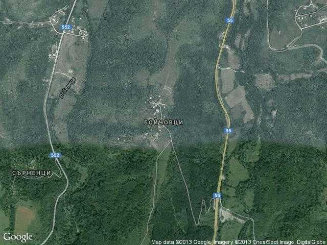 Сателитна карта на Бойчовци