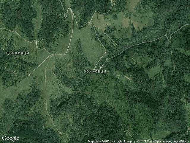 Сателитна карта на Бочковци