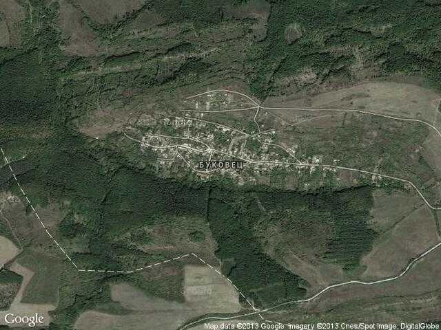 Сателитна карта на Буковец