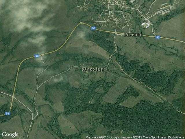 Сателитна карта на Бялковци