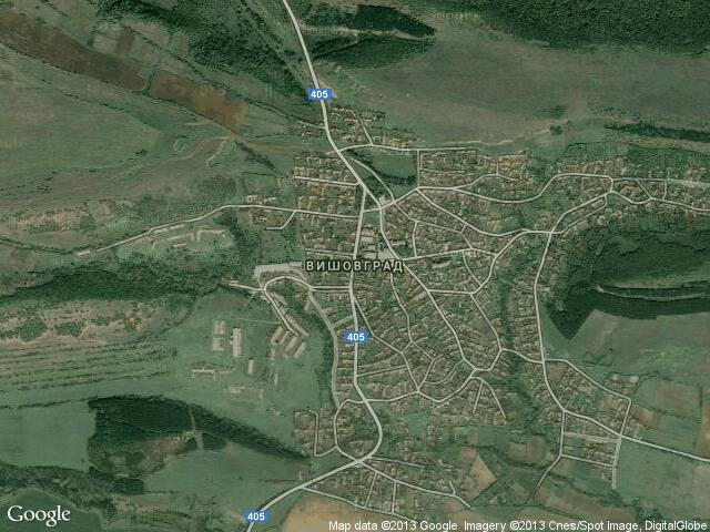 Сателитна карта на Вишовград