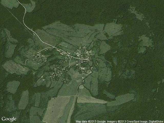 Сателитна карта на Водно