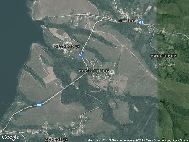 Сателитна карта на Вързилковци