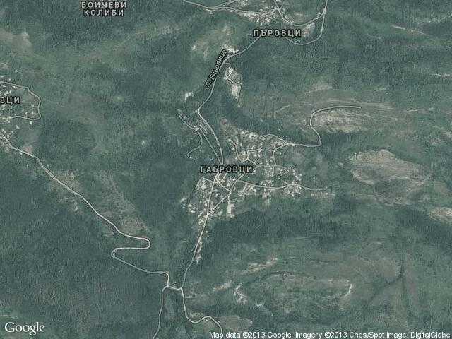 Сателитна карта на Габровци