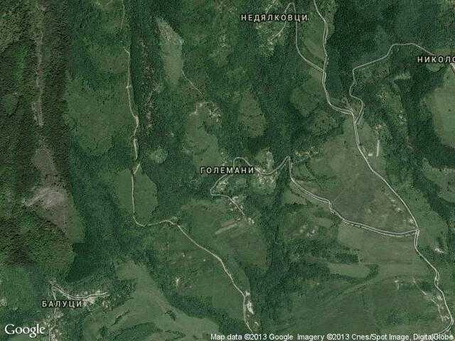 Сателитна карта на Големани