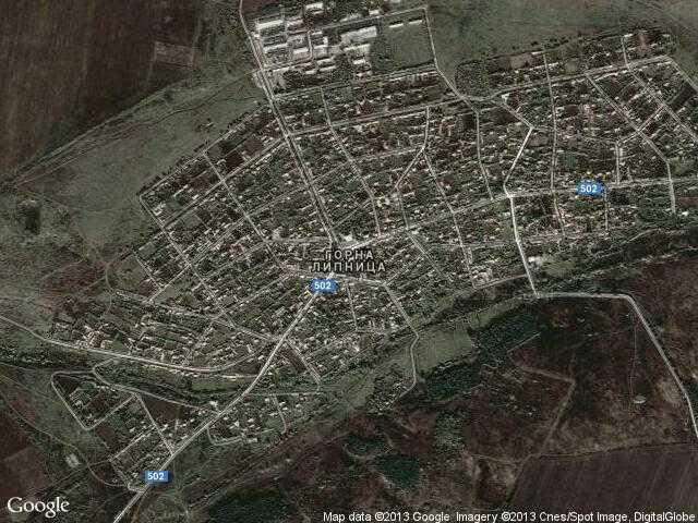 Сателитна карта на Горна Липница