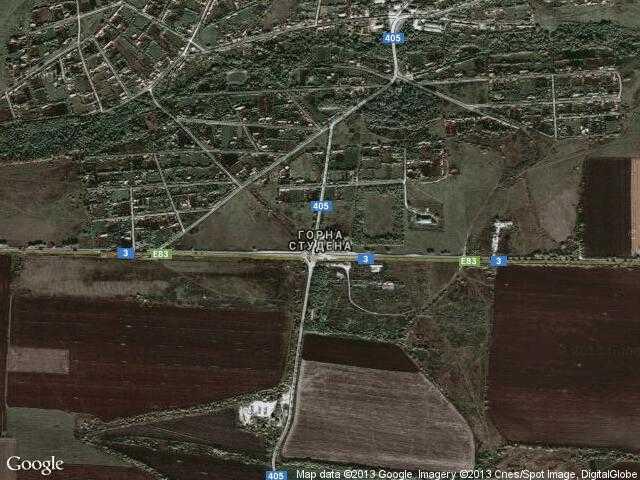 Сателитна карта на Горна Студена