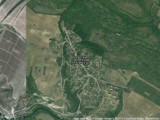 Сателитна карта на Горски долен Тръмбеш