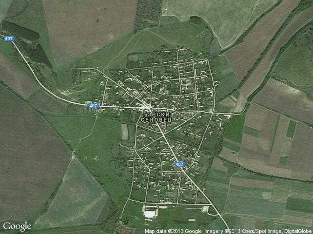 Сателитна карта на Горски Сеновец