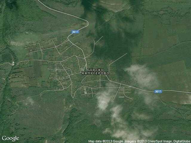 Сателитна карта на Горско Калугерово