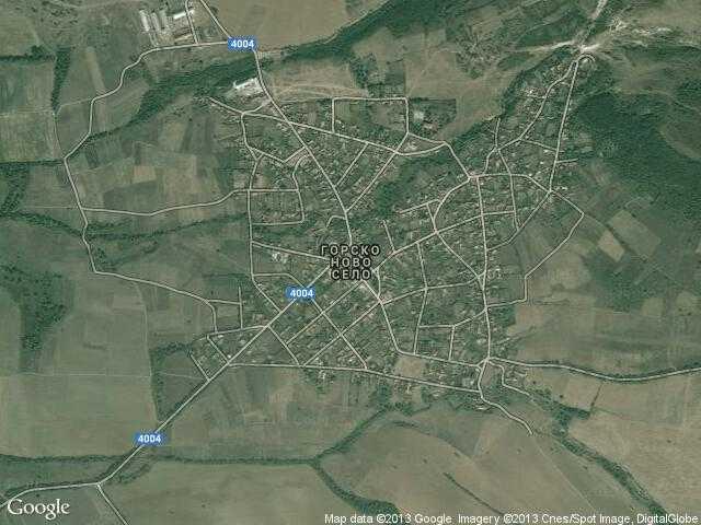 Сателитна карта на Горско ново село