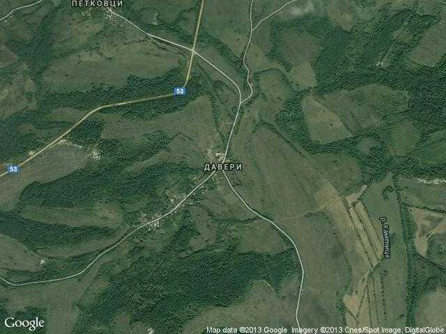 Сателитна карта на Давери