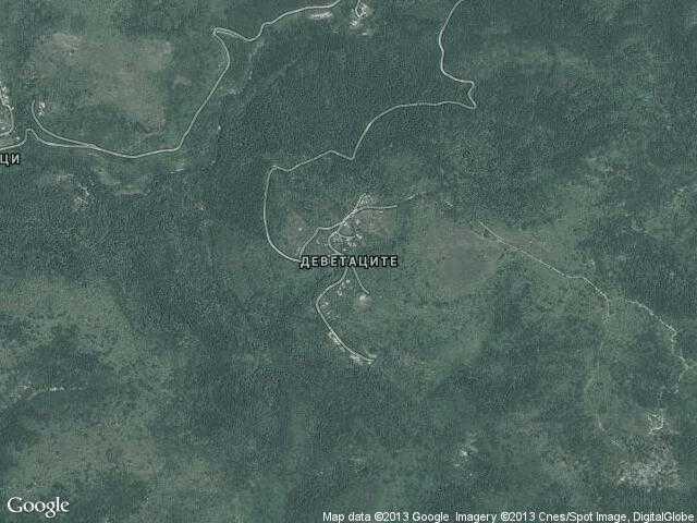 Сателитна карта на Деветаците