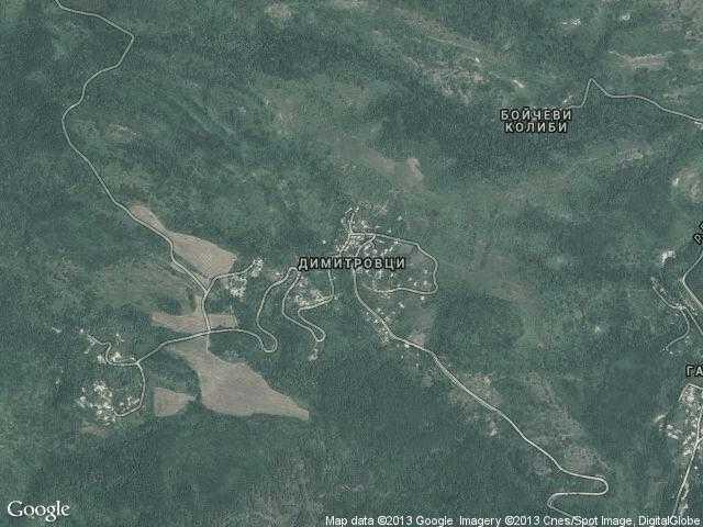 Сателитна карта на Димитровци