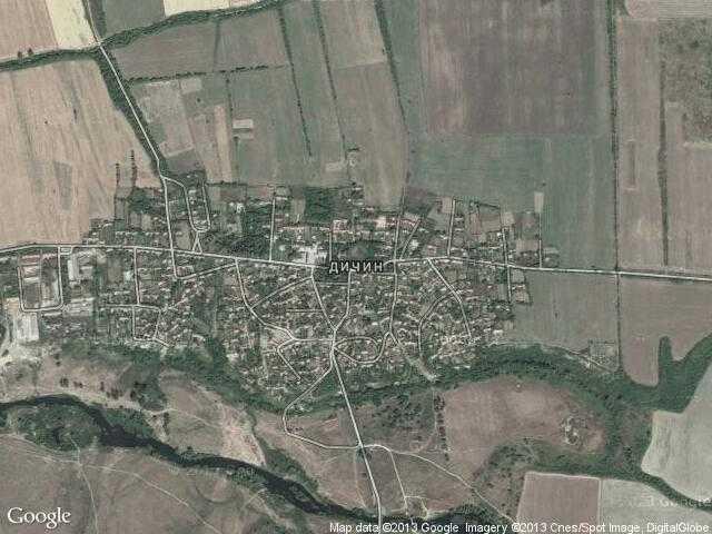 Сателитна карта на Дичин