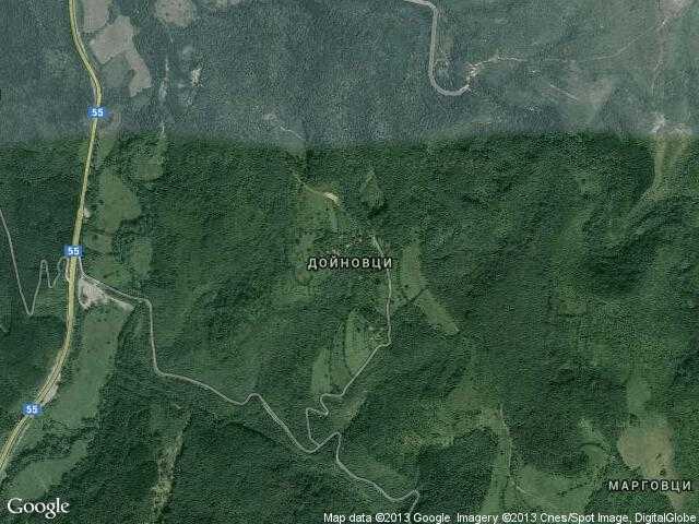 Сателитна карта на Дойновци