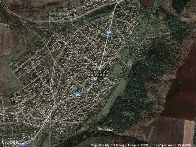 Сателитна карта на Долна Липница