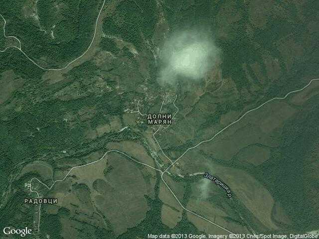 Сателитна карта на Долни Марян