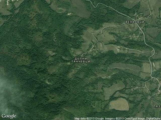 Сателитна карта на Долни Танчевци