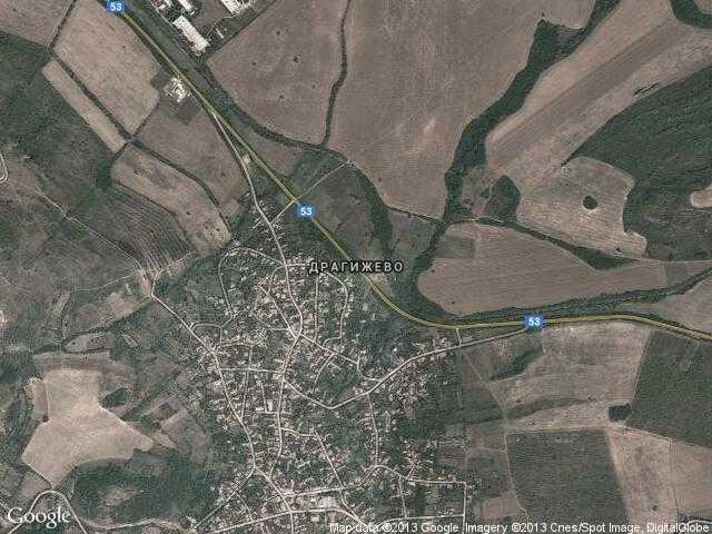 Сателитна карта на Драгижево
