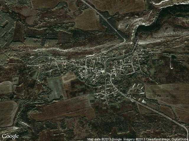 Сателитна карта на Емен