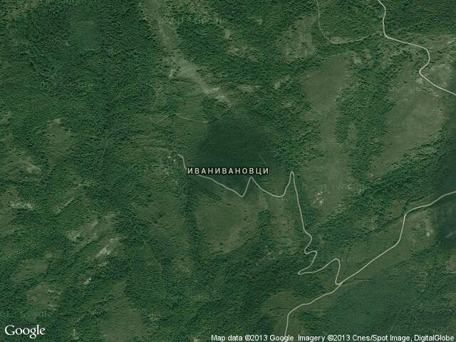 Сателитна карта на Иванивановци