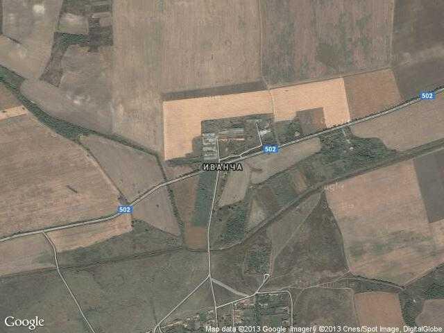 Сателитна карта на Иванча