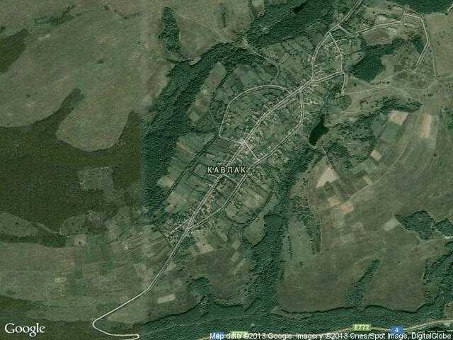 Сателитна карта на Кавлак