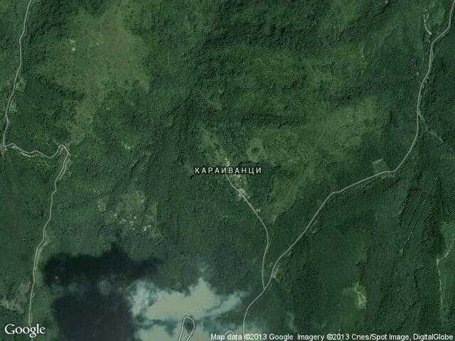Сателитна карта на Караиванци