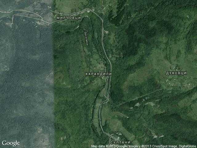Сателитна карта на Карандили