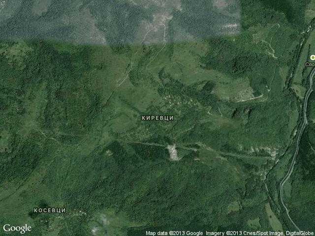 Сателитна карта на Киревци