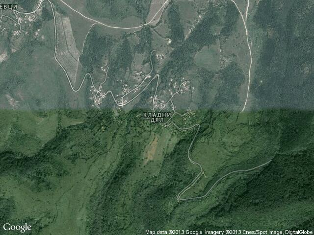 Сателитна карта на Кладни дял