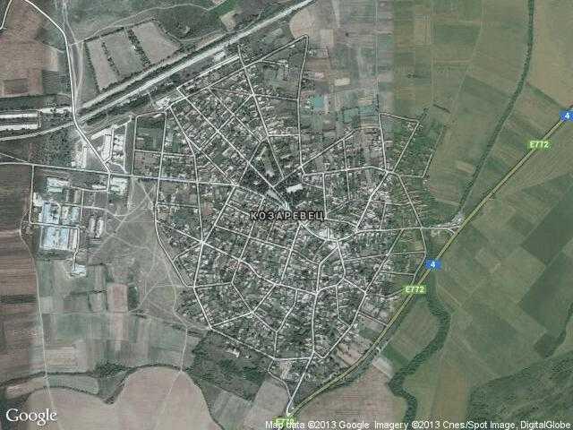 Сателитна карта на Козаревец