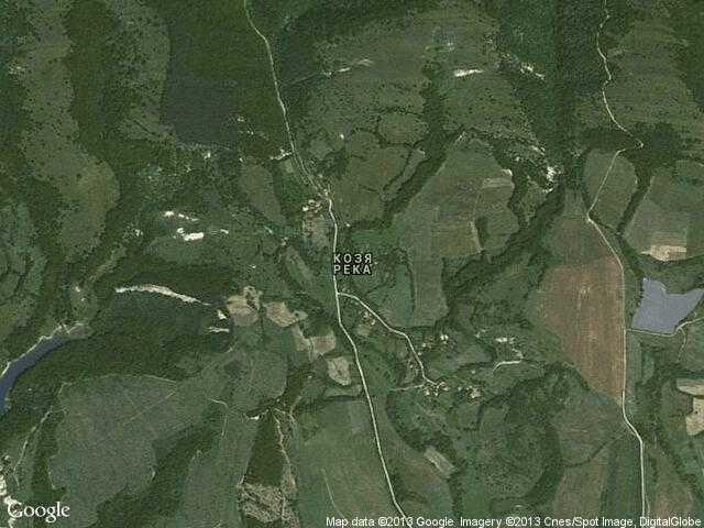 Сателитна карта на Козя река