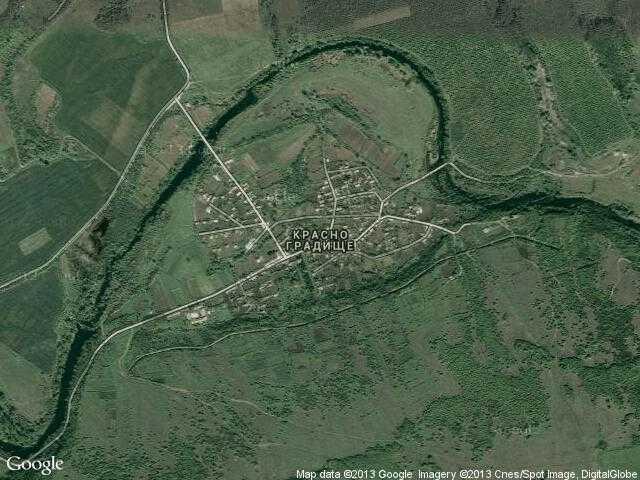 Сателитна карта на Красно градище